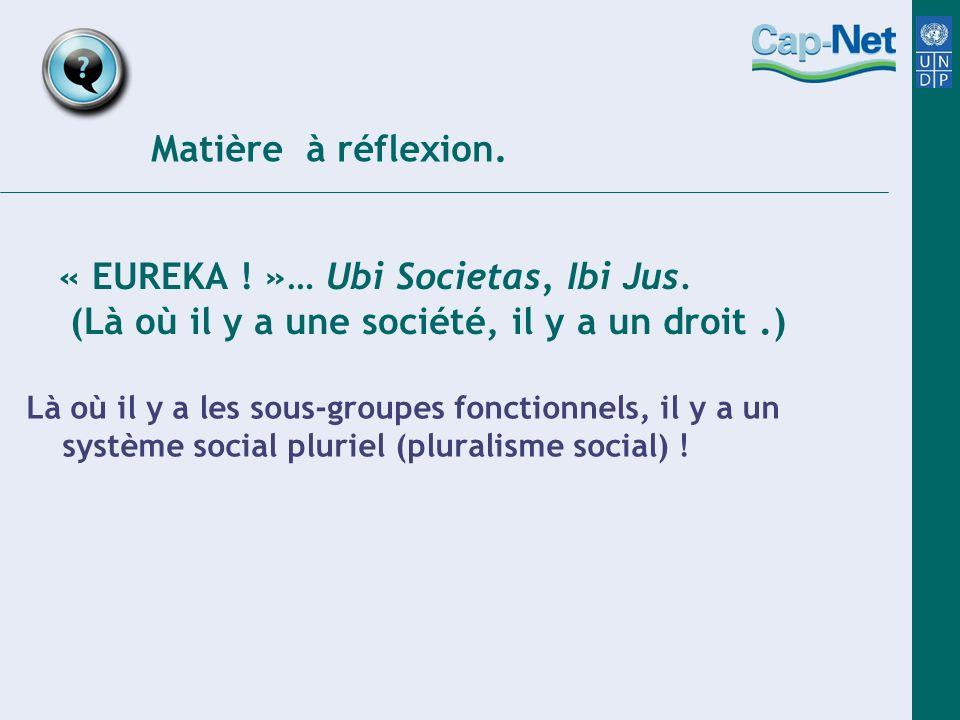 « EUREKA . »… Ubi Societas, Ibi Jus.
