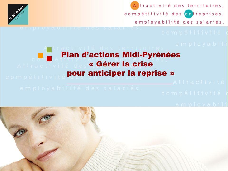 1 Plan dactions Midi-Pyrénées « Gérer la crise pour anticiper la reprise »
