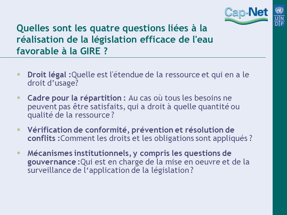 Quelles sont les recommendations pour une bonne rédaction de la législation de leau .