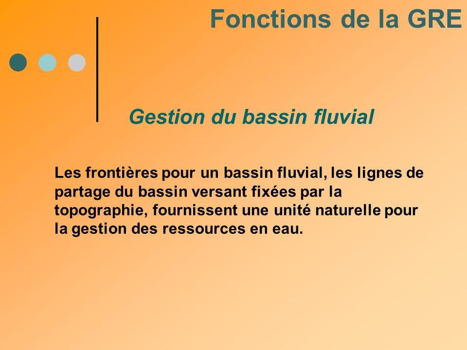 Les frontières pour un bassin fluvial, les lignes de partage du bassin versant fixées par la topographie, fournissent une unité naturelle pour la gest