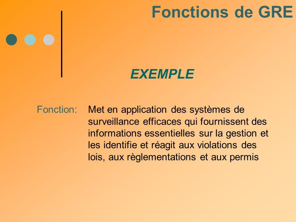 Fonction:Met en application des systèmes de surveillance efficaces qui fournissent des informations essentielles sur la gestion et les identifie et ré