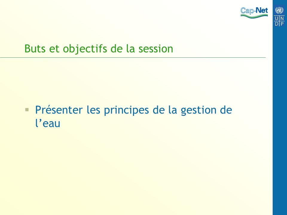 Buts et objectifs de la session Présenter les principes de la gestion de leau