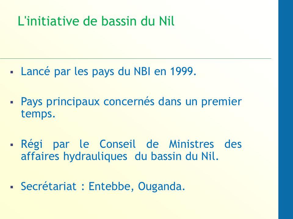 L initiative de bassin du Nil Lancé par les pays du NBI en 1999.