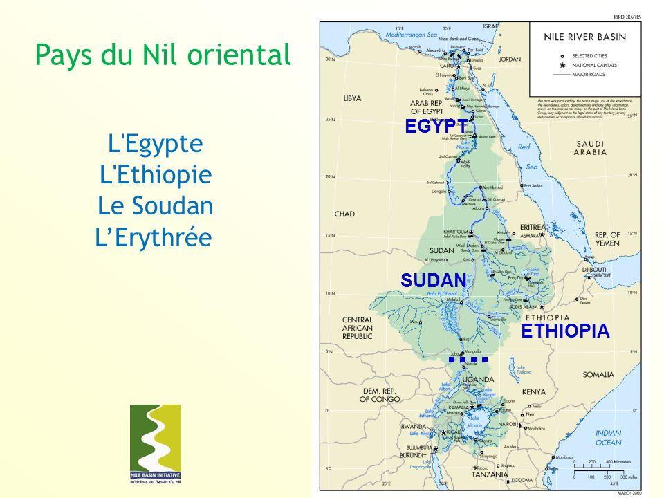 Pays du Nil oriental EGYPT SUDAN ETHIOPIA L Egypte L Ethiopie Le Soudan LErythrée