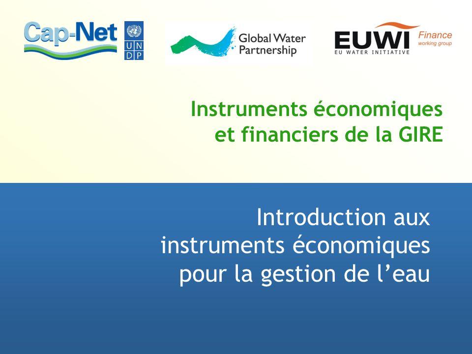 Instruments économiques et financiers de la GIRE Introduction aux instruments économiques pour la gestion de leau