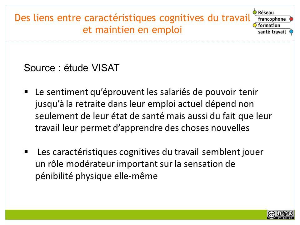 Rôle des conditions de travail (daprès les travaux de JC.MARQUIÉ CNRS/CLLE-LTC ) Certaines conditions de travail, passées et actuelles, peuvent rendre