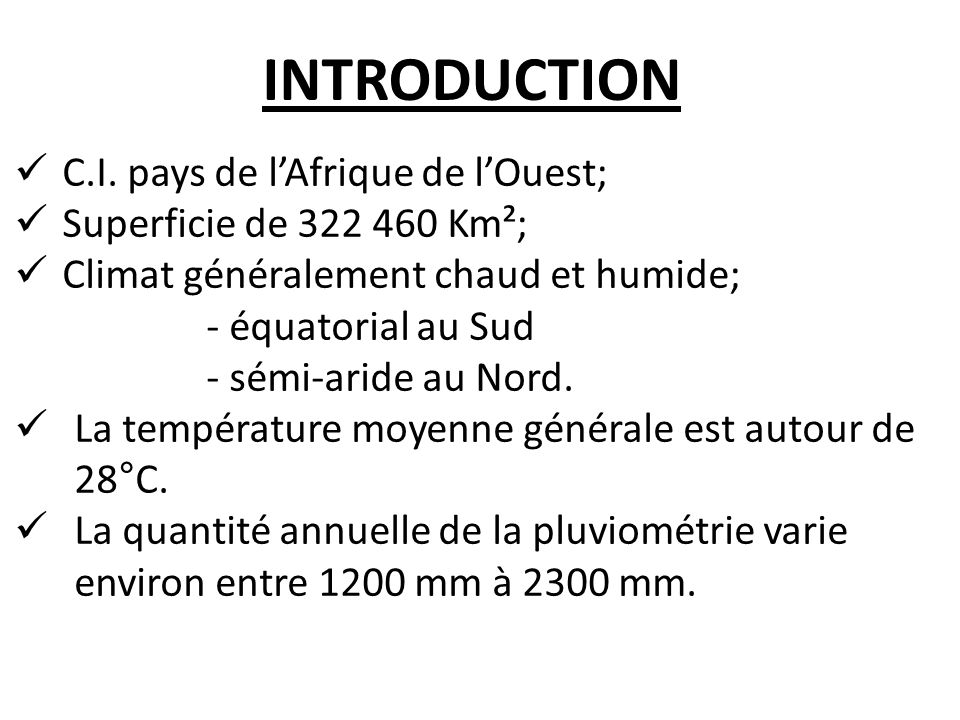 INTRODUCTION C.I.