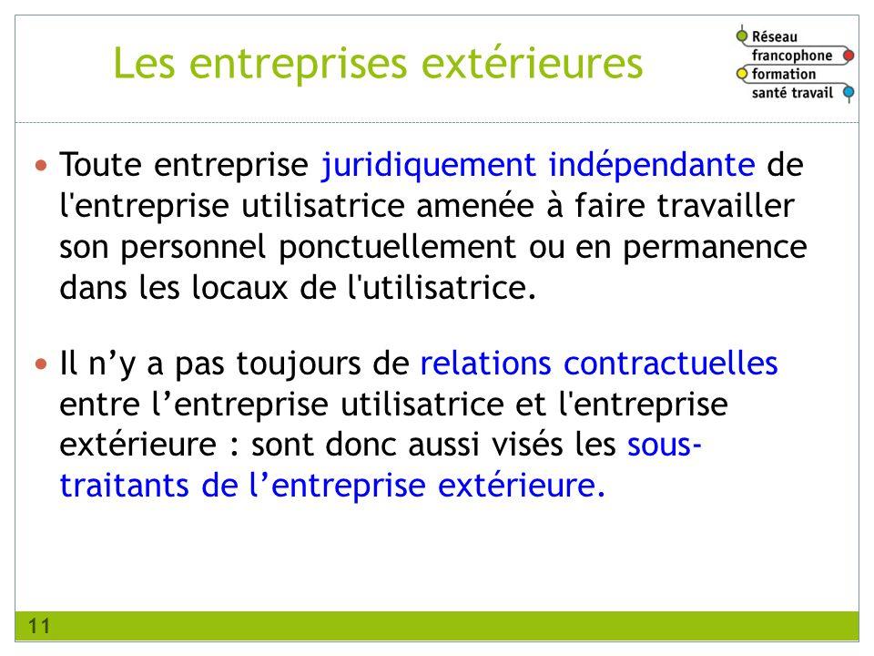 Toute entreprise juridiquement indépendante de l'entreprise utilisatrice amenée à faire travailler son personnel ponctuellement ou en permanence dans