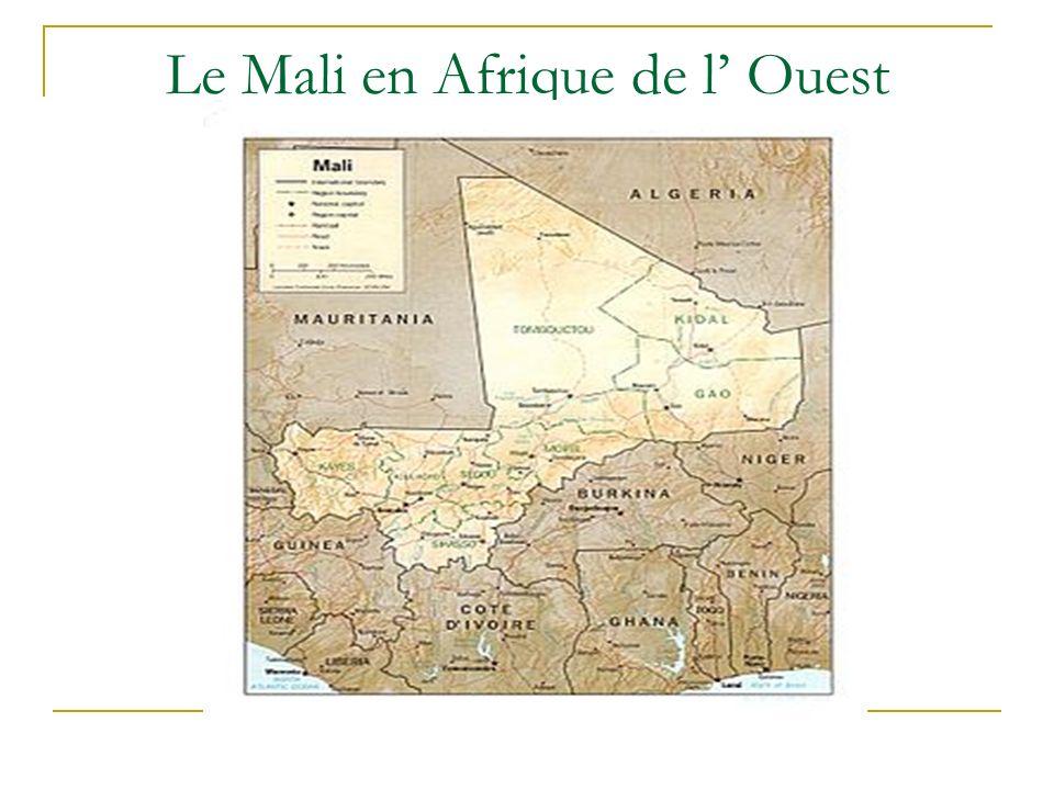 Stations1951-1970 °C 1971-2000 °C Différence °C Kayes36,336,5+0,2 Bamako Senou 34,434,5+0,1 Sikasso33,733,9+0,2 Ségou34,835,3+0,5 Mopti35,035,9+0,9 Gao37,137,3+0,2 Kidal36,136,2+0,1