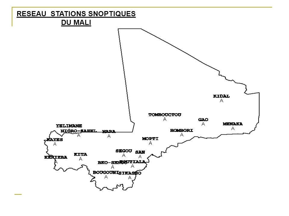 19 Au Mali, on note de nos jours en moyenne une baisse de 20% de la pluviométrie entre la période 1951 – 1970 (période humide) et la dernière période de référence 1971 – 2000 entraînant un déplacement des isohyètes de 200 km vers le Sud.