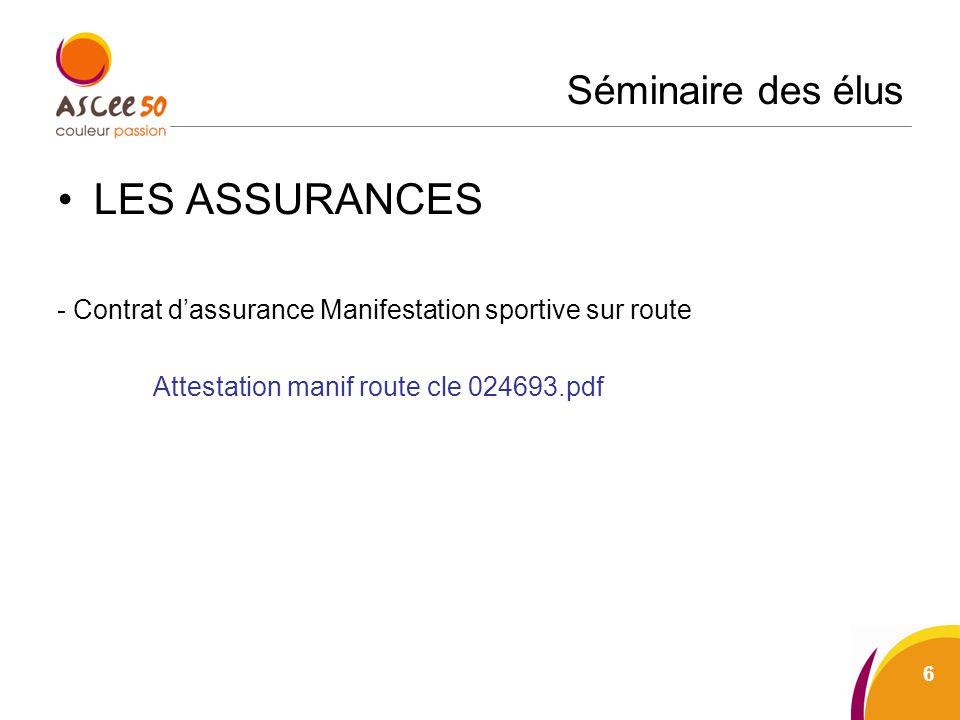 Séminaire des élus LES ASSURANCES - Contrat dassurance Manifestation sportive sur route Attestation manif route cle 024693.pdf 6