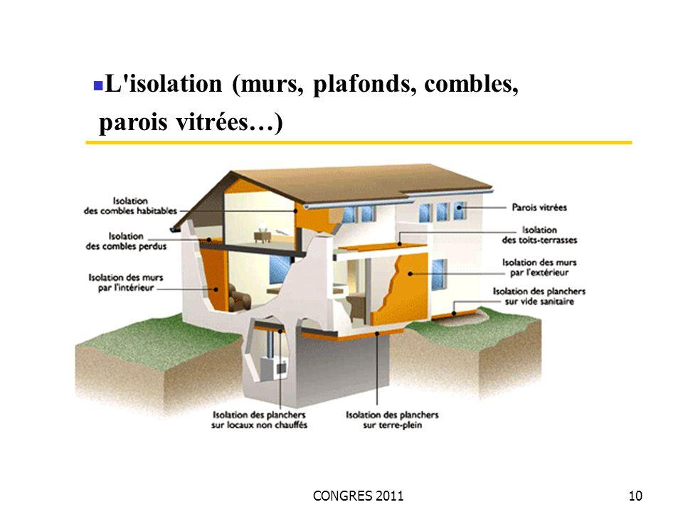 CONGRES 201110 L'isolation (murs, plafonds, combles, parois vitrées…)