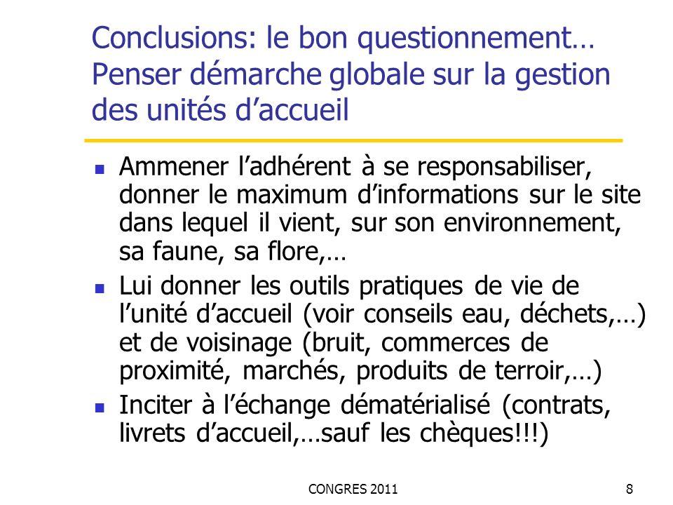 CONGRES 20119 La technique, les travaux de restructuration Les dispositions architecturales :