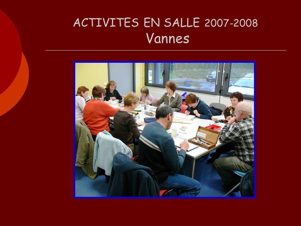 ACTIVITES EN SALLE 2007-2008 Vannes
