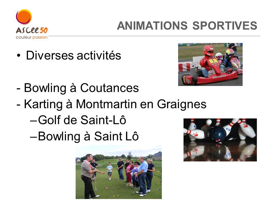 ANIMATIONS SPORTIVES Diverses activités - Bowling à Coutances - Karting à Montmartin en Graignes –Golf de Saint-Lô –Bowling à Saint Lô 9