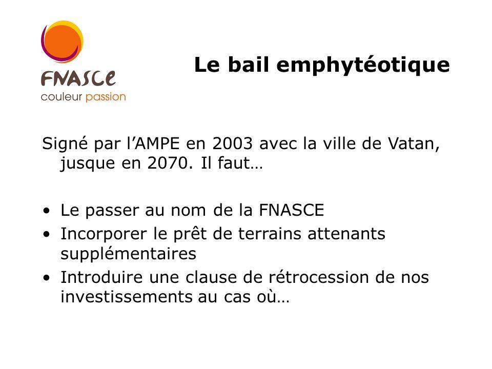 Signé par lAMPE en 2003 avec la ville de Vatan, jusque en 2070.