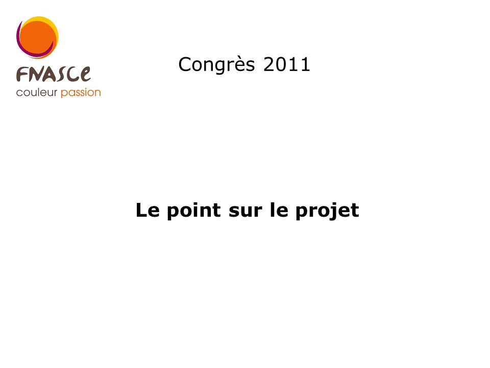 Congrès 2011 Le point sur le projet