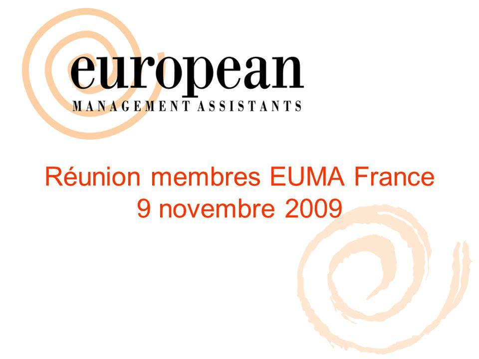 Réunion membres EUMA France 9 novembre 2009