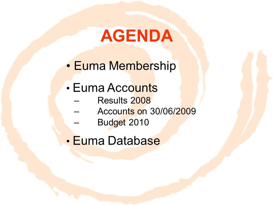 EUMA DATABASE Pour faire vivre ce formidable réseau, Chaque membre vérifie et met à jour ses informations personnelles dans la database Euma 31 décembre 2009 Monique Garcia est à votre disposition monique@euma-france.org 06 14 94 79 64 Database sur www.euma.orgwww.euma.org