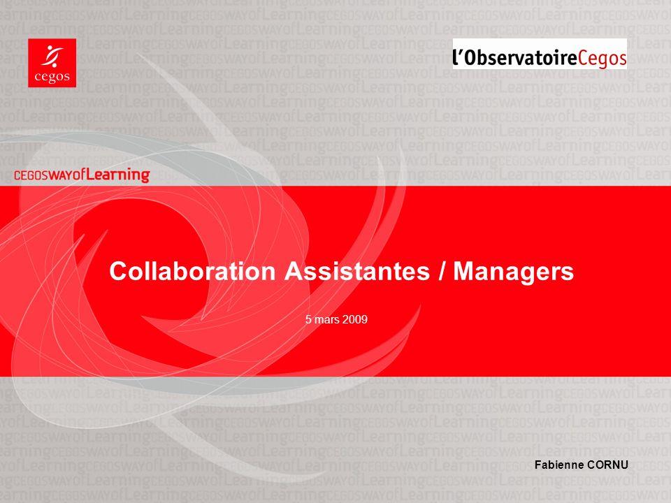 5 mars 2009 Collaboration Assistantes / Managers Fabienne CORNU