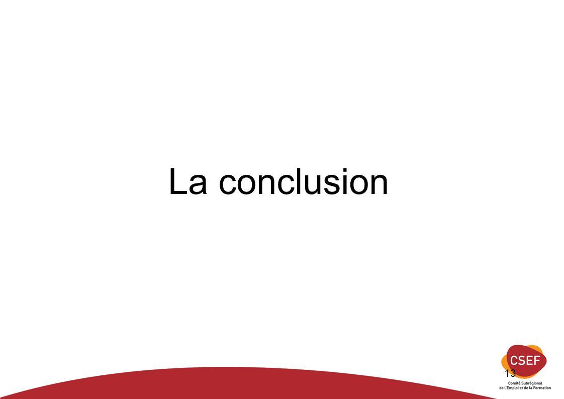 13 La conclusion