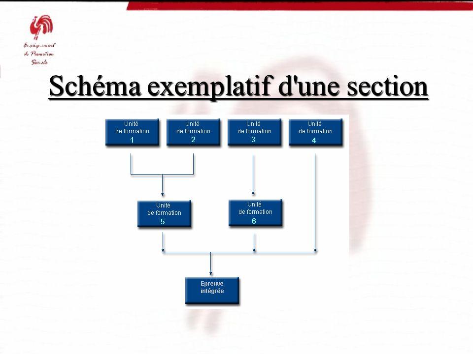 Schéma exemplatif d'une section Schéma exemplatif d'une section Schéma exemplatif d'une section Schéma exemplatif d'une section