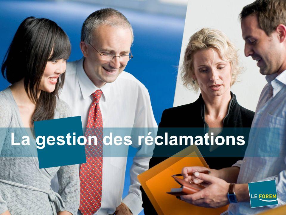 Table des matières De la notion de plainte à celle de réclamation Principes de base Gérer les réclamations – Pour Qui .