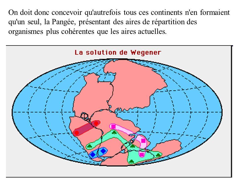 3ème élément : les traces danciennes glaciations On observe, sur certaines portions des continents actuels, des marques de glaciation datant d il y a 250 millions d années (M.a.), indiquant que ces portions de continents ont été recouvertes par une calotte glaciaire.