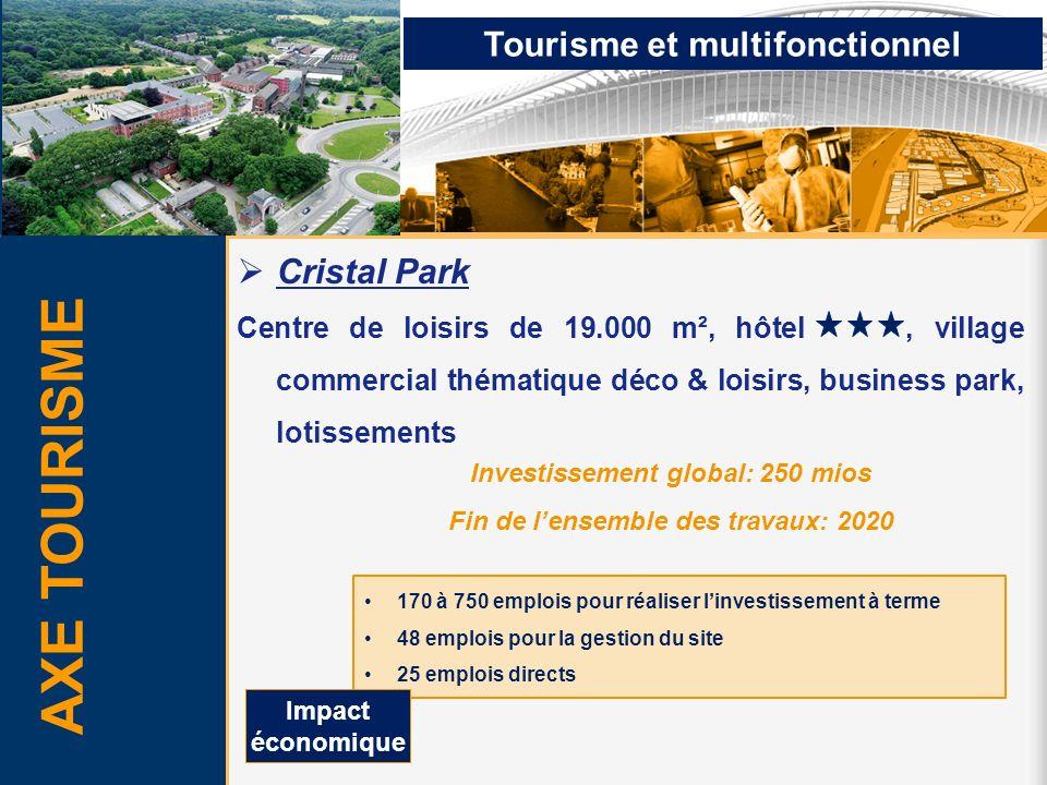AXE TOURISME Cristal Park Centre de loisirs de 19.000 m², hôtel, village commercial thématique déco & loisirs, business park, lotissements Investissem