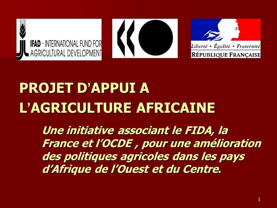 1 PROJET D APPUI A L AGRICULTURE AFRICAINE Une initiative associant le FIDA, la France et lOCDE, pour une amélioration des politiques agricoles dans l