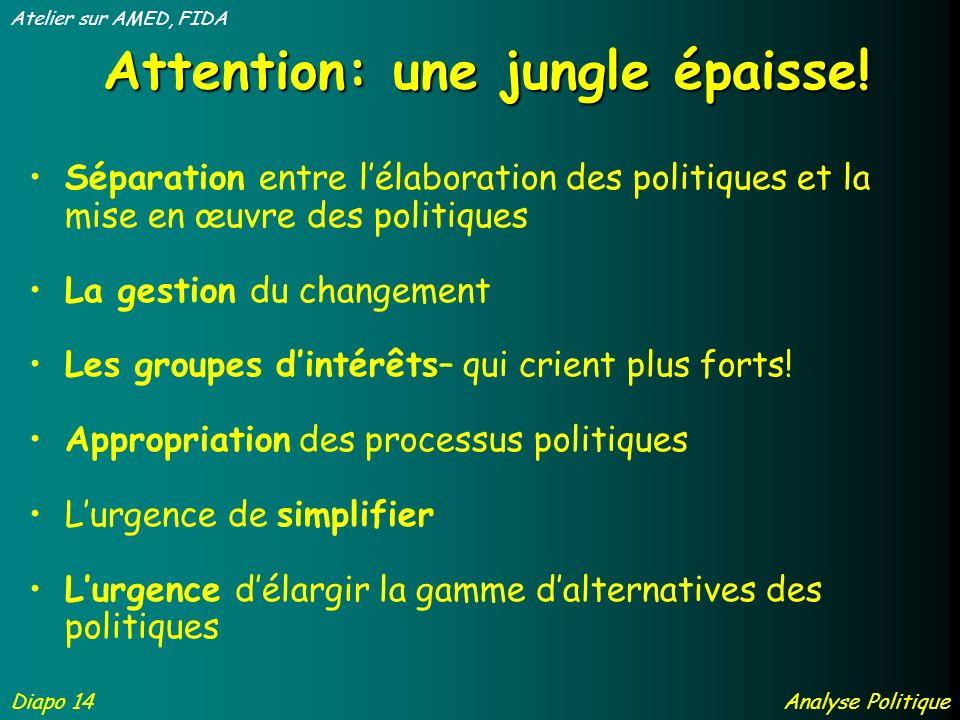 Attention: une jungle épaisse.