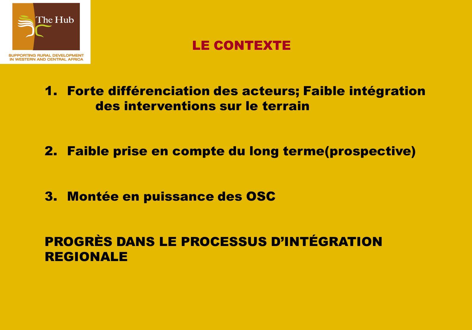 LE CONTEXTE 1.
