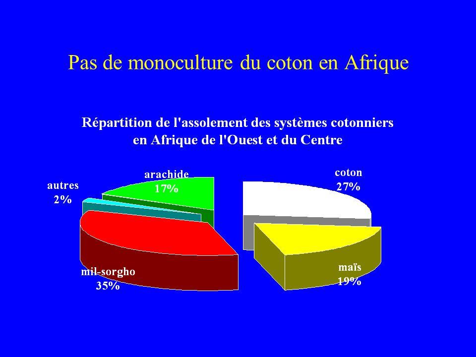 Pas de monoculture du coton en Afrique