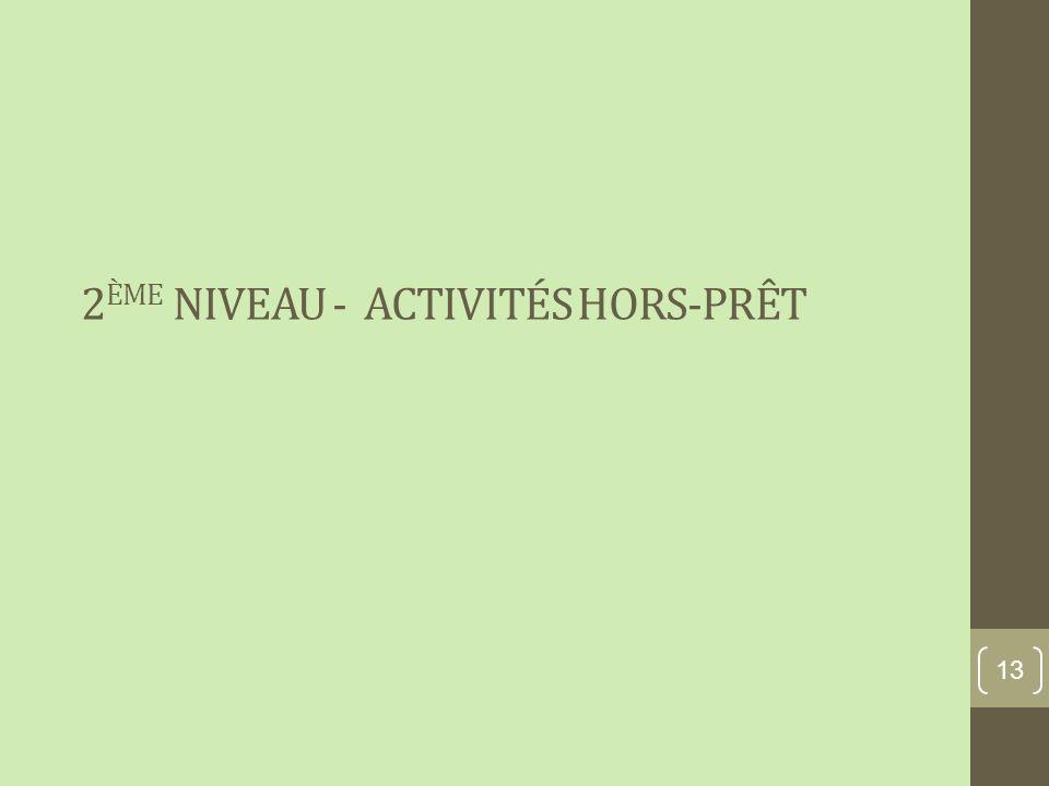 2 ÈME NIVEAU - ACTIVITÉS HORS-PRÊT 13