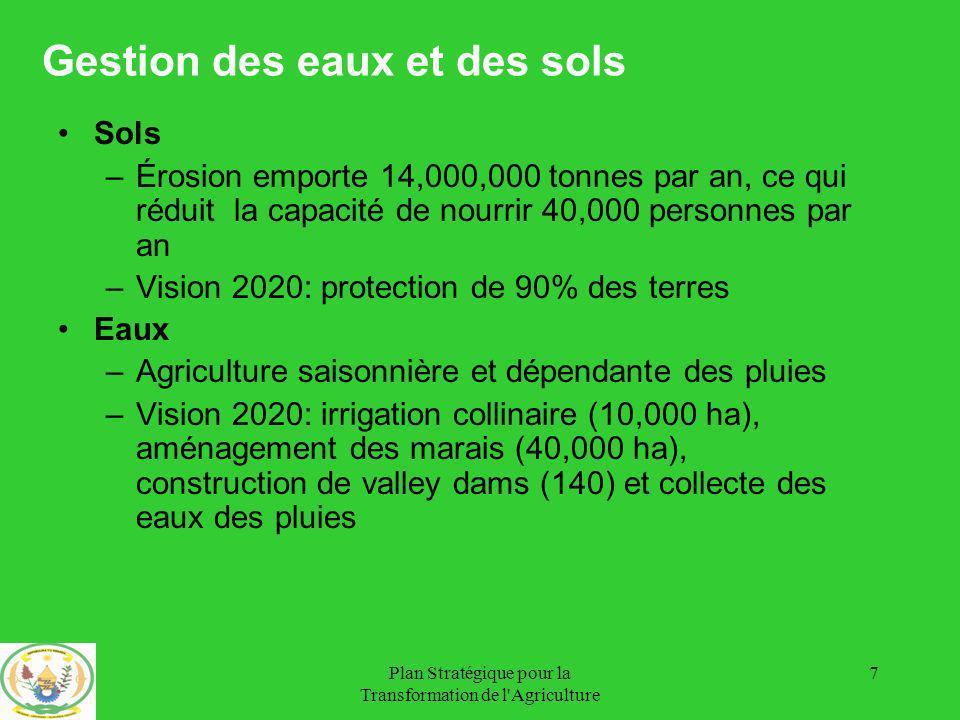Plan Stratégique pour la Transformation de l Agriculture 28 Projection Lait