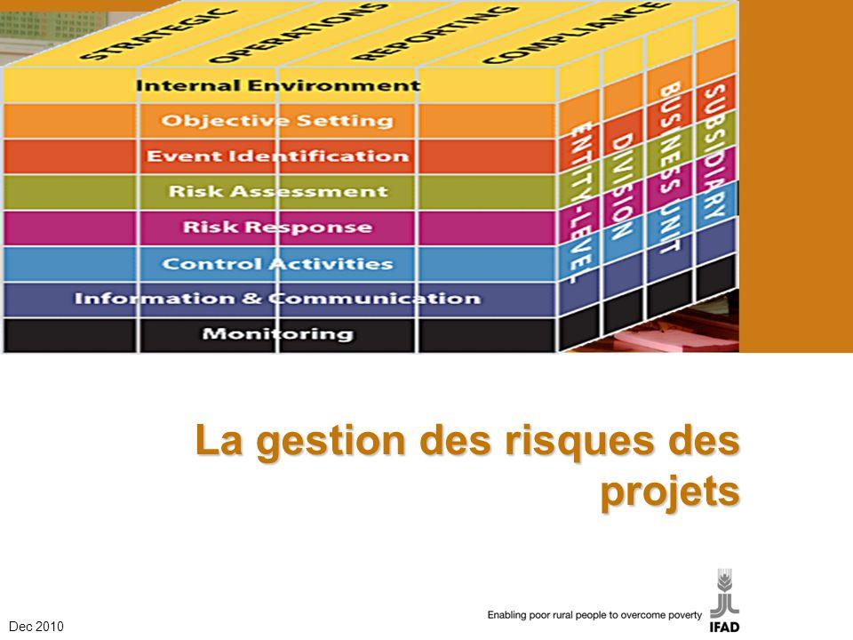 La gestion des risques des projets Dec 2010