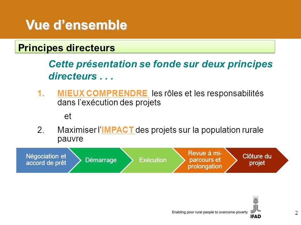 2 Cette présentation se fonde sur deux principes directeurs...