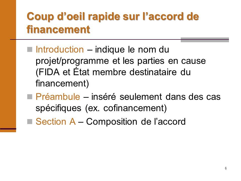 47 Impôts La règle générale est que le financement du FIDA ne doit pas servir au règlement dimpôts – APCF 7 1) c) Ce principe est exprimé de manière générale à lannexe 2 – colonne pourcentage – où il est précisé que les montants sont nets dimpôts