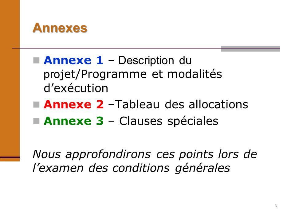 9 Les conditions générales Article 1 – Application Les nouvelles CG sappliquent à tous les accords de financement des projets et programmes approuvés par le Conseil dadministration à sa quatre-vingt-dix-septième session en septembre 2009 et ultérieurement.