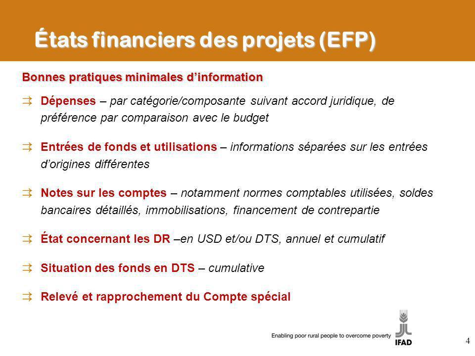 Bonnes pratiques minimales dinformation Dépenses – par catégorie/composante suivant accord juridique, de préférence par comparaison avec le budget Ent