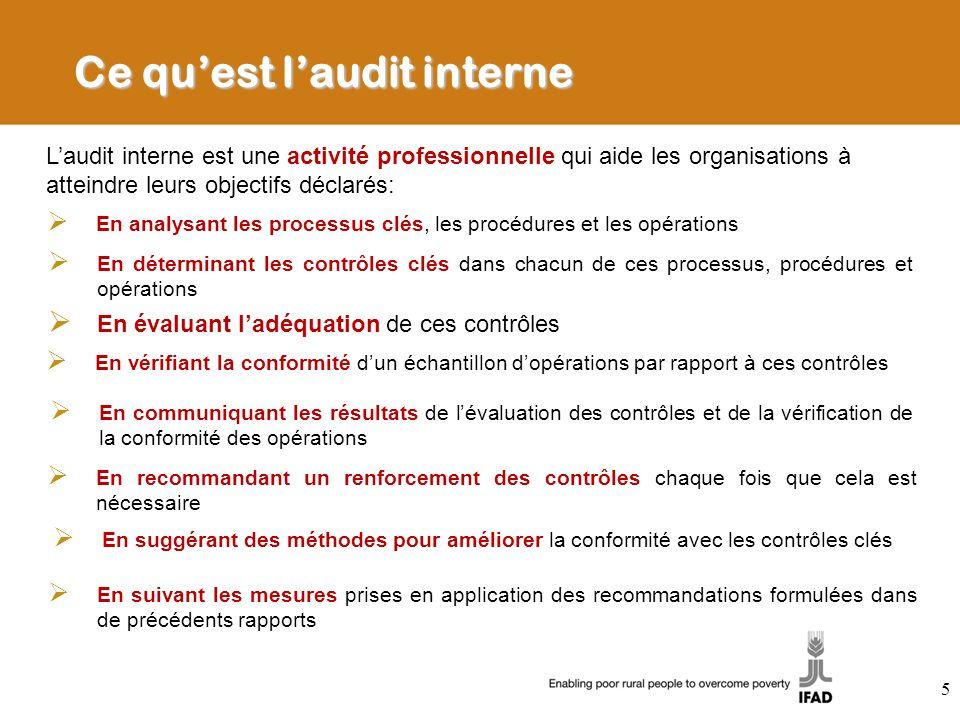 Ce quest laudit interne Laudit interne est une activité professionnelle qui aide les organisations à atteindre leurs objectifs déclarés: En analysant