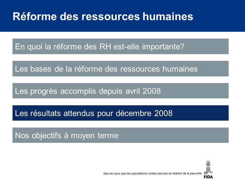 Réforme des ressources humaines En quoi la réforme des RH est-elle importante.