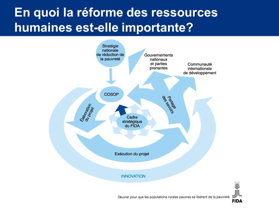 En quoi la réforme des ressources humaines est-elle importante