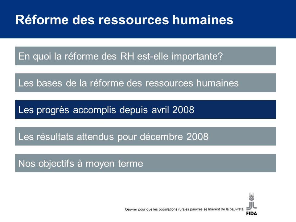 Progrès accomplis depuis avril 2008 Nous avons accompli d importants progrès depuis la dernière session de la reconstitution.