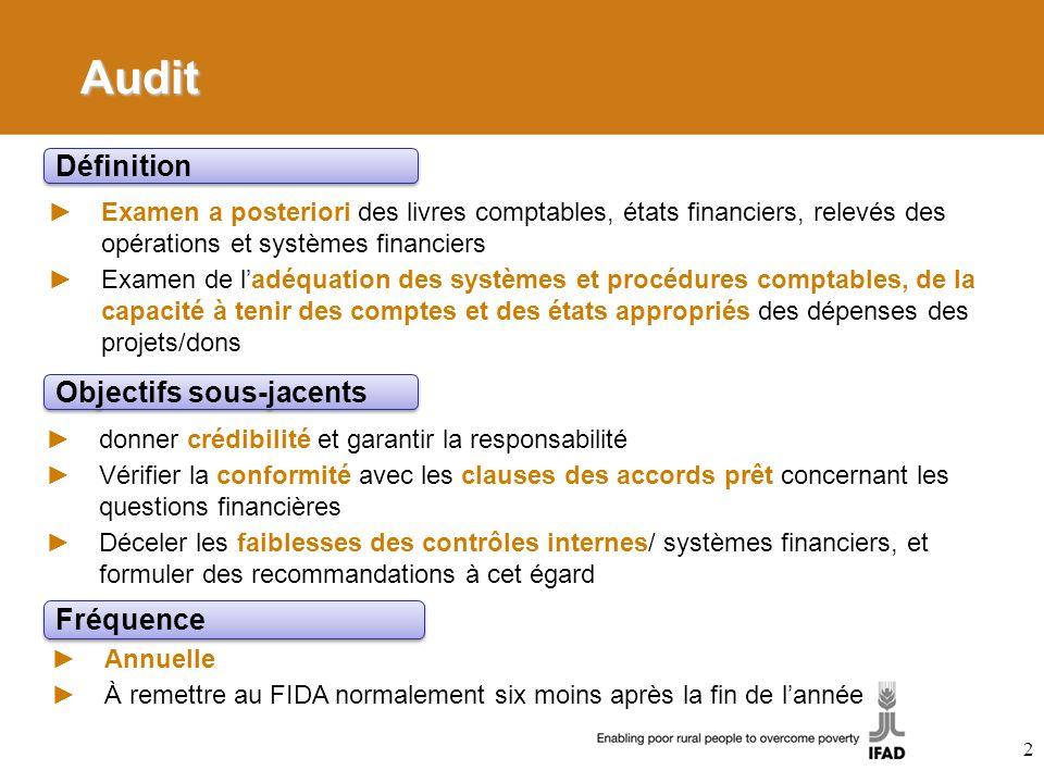 Audit Examen a posteriori des livres comptables, états financiers, relevés des opérations et systèmes financiers Examen de ladéquation des systèmes et