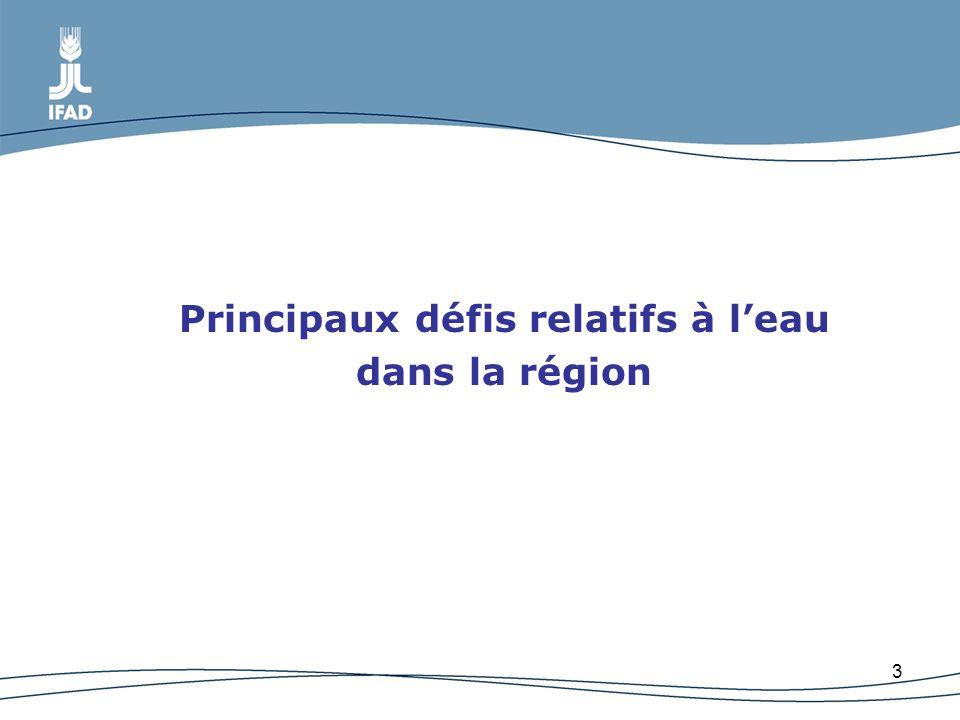 3 Principaux défis relatifs à leau dans la région