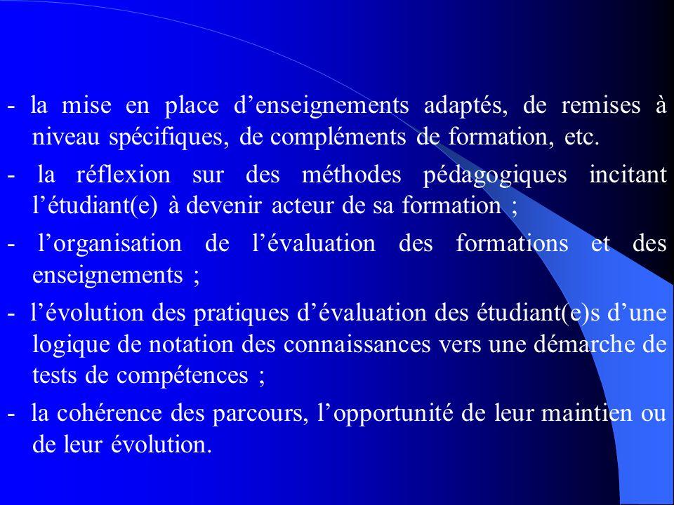 2.2. Exigences Pédagogiques du LMD et Ressources Humaines Le système LMD = plus dautonomie à létudiant(e) dans la construction de son parcours Ce qui