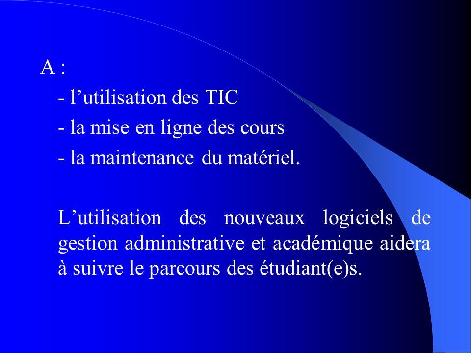 2.3- Exigences Matérielles du LMD et Ressources Humaines La réforme LMD a aussi des contraintes matérielles et technologiques qui exigent la formation