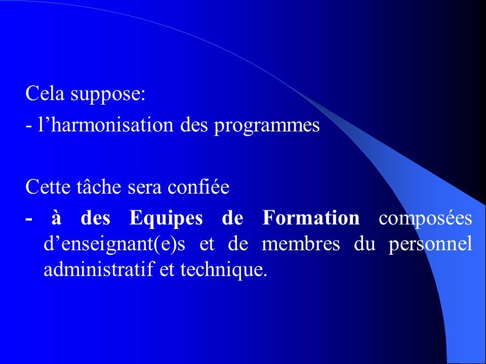 2.1. Exigences Académiques du LMD et Ressources Humaines Objectif du REESAO : - Promouvoir une nouvelle politique de coopération universitaire axée pr