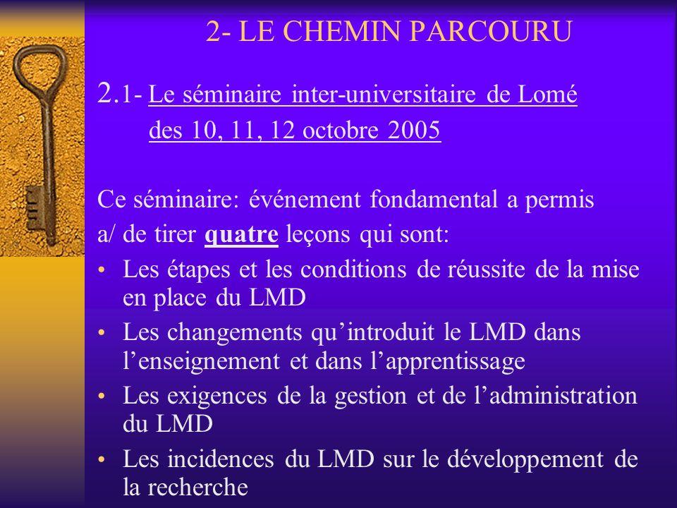 1- Le REESAO (suite et fin) 1.2- Création du REESAO Le 11 octobre 2005 à Lomé par 7 Universités N.B: Abobo-Adjamé (Observateur) A ce jour, le REESAO c